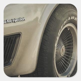 Rueda 1982 de la edición del colector de Chevrolet Pegatina Cuadrada
