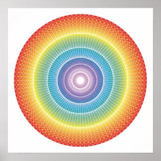 Rueda #3 del arco iris póster