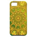 Rueda abstracta de color verde amarillo de la iPhone 5 Case-Mate protectores