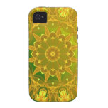 Rueda abstracta de color verde amarillo de la mand iPhone 4/4S carcasas