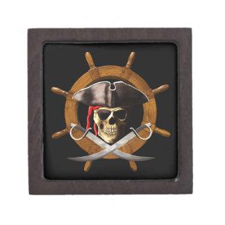 Rueda alegre del pirata de Rogelio Caja De Recuerdo De Calidad