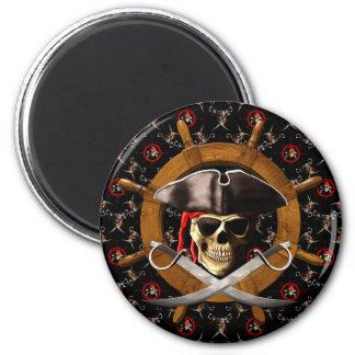 Rueda alegre del pirata de Rogelio Imán Para Frigorífico