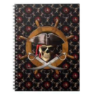 Rueda alegre del pirata de Rogelio Libretas Espirales