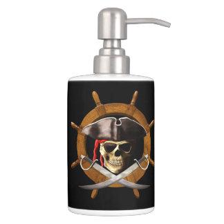Rueda alegre del pirata de Rogelio Conjuntos De Baño