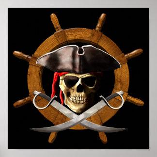 Rueda alegre del pirata de Rogelio Póster