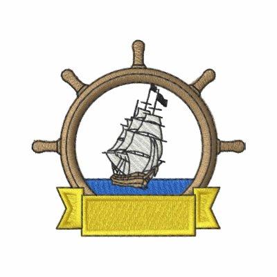 Rueda con la nave camiseta polo