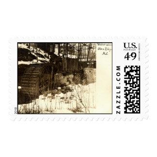 Rueda de agua, cañada Ridge, vintage 1905 de NJ Sello