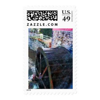 Rueda de agua sellos postales
