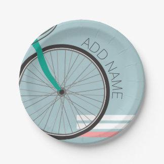 Rueda de bicicleta del inconformista con nombre de plato de papel de 7 pulgadas