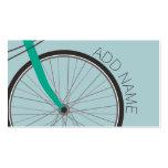Rueda de bicicleta del inconformista con nombre de tarjetas de visita