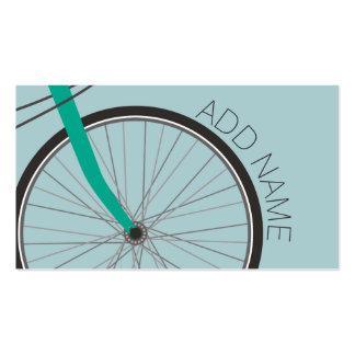 Rueda de bicicleta del inconformista con nombre de tarjeta personal