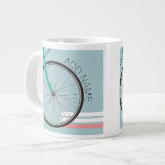 Rueda de bicicleta del inconformista con nombre de taza grande