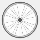 Rueda de bicicleta pegatina redonda