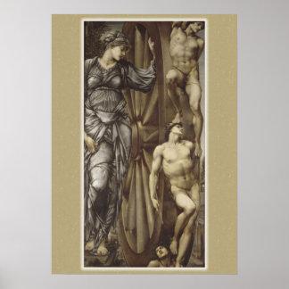 Rueda de Burne-Jones del poster de la fortuna
