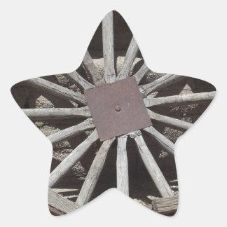 Rueda de carro pegatina en forma de estrella