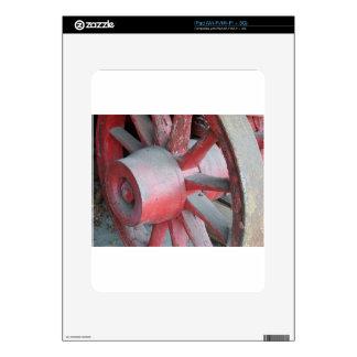 Rueda de carro roja calcomanía para iPad