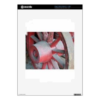 Rueda de carro roja calcomanías para el iPad 2