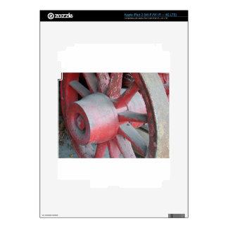 Rueda de carro roja pegatinas skins para iPad 3