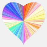 Rueda de color ART101 Calcomanía Corazón Personalizadas