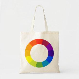 rueda de color bolsa lienzo