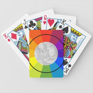 rueda de color cartas de juego