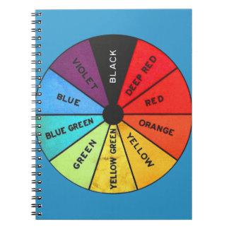 Rueda de color de encargo del vintage del color spiral notebooks