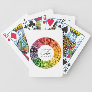 Rueda de color de la fruta y verdura (12 colores) baraja de cartas bicycle