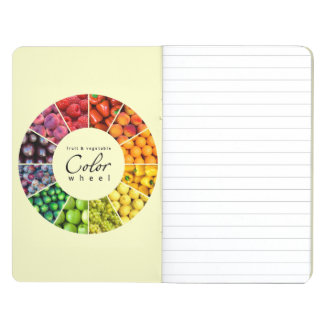 Rueda de color de la fruta y verdura (12 colores) cuaderno