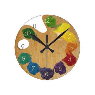 Rueda de color de la paleta del ` s del artista co relojes de pared