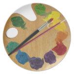 Rueda de color de la paleta del ` s del artista plato