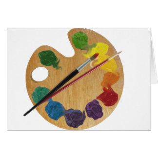 Rueda de color de la paleta del ` s del artista tarjeta de felicitación