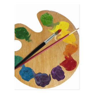 Rueda de color de la paleta del ` s del artista tarjetas postales