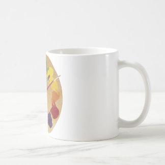 Rueda de color de la paleta del ` s del artista tazas de café