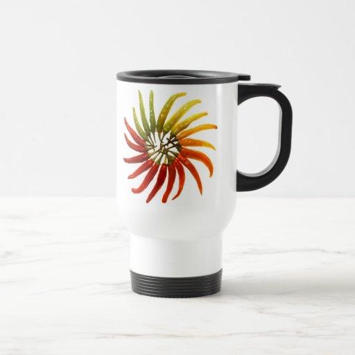 Rueda de color de los pimientos picantes de Charle Tazas De Café