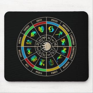 Rueda de color del zodiaco tapete de ratón