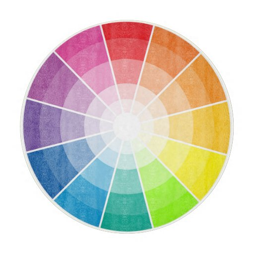 Rueda de color tablas de cortar