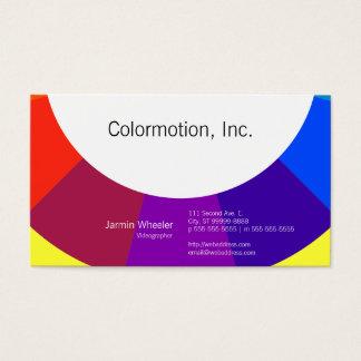 Rueda de color tarjetas de visita