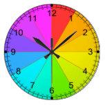 Rueda de color y reloj de enseñanza del tiempo