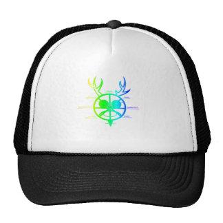 Rueda de cuernos de dios del arco iris del año gorros bordados
