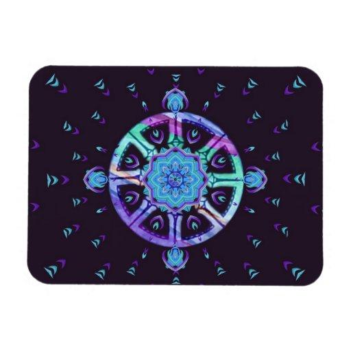 Rueda de Dharma e imán de la mandala de Lotus