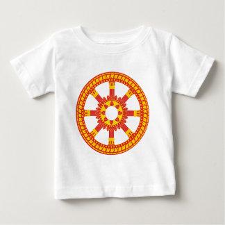Rueda de Dharmachakra del símbolo de Ashtamangala Playera De Bebé