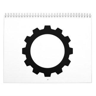 Rueda de engranaje calendario de pared