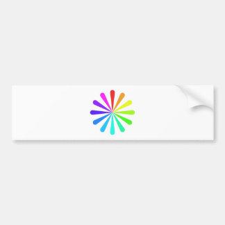 Rueda de fan del color pegatina para auto