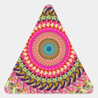 Rueda de hilado de la simetría pegatina triangular