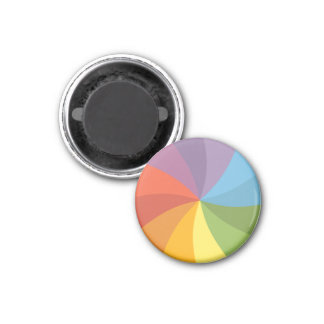 Rueda de hilado del arco iris imán redondo 3 cm