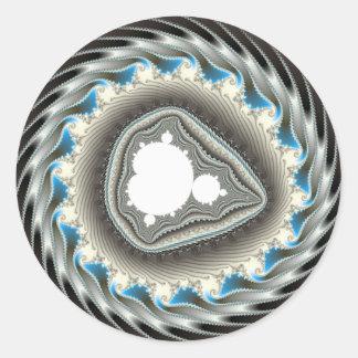 Rueda de hilado - fractal pegatina redonda