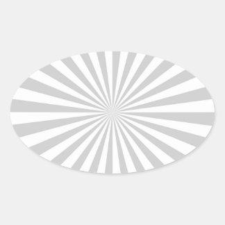 Rueda de hilado gris clara clásica de la explosión pegatina ovalada