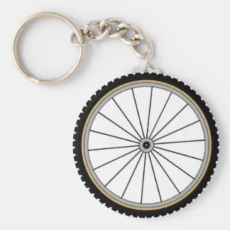 Rueda de la bici llavero redondo tipo pin