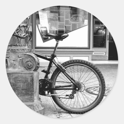 Rueda de la bici pegatina redonda