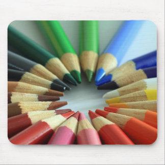 Rueda de la carta de color mouse pads